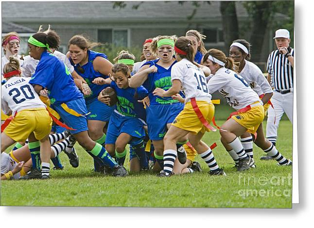 Powderpuff Footbal Greeting Card