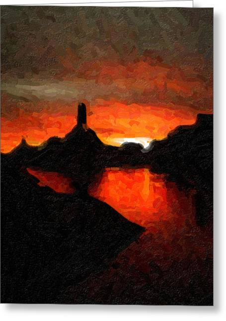 Powell Sunset Greeting Card