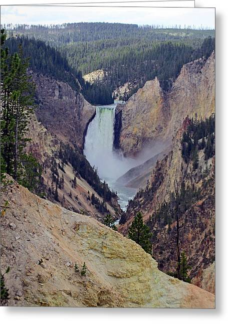 Power Falls Greeting Card by Mike Podhorzer