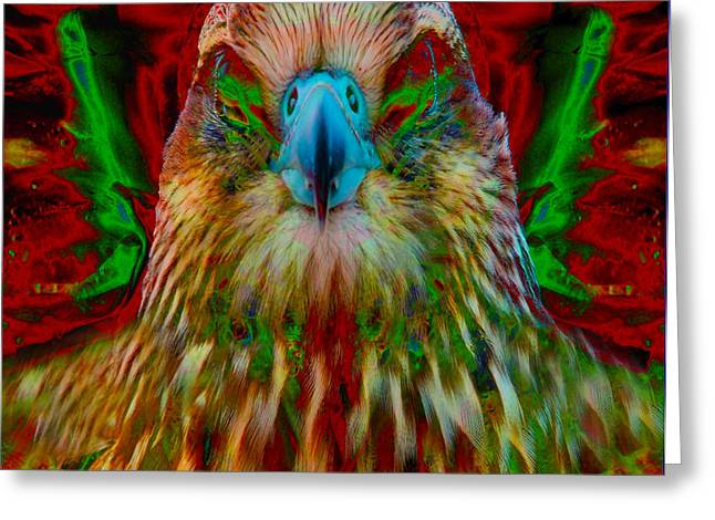Power Hawk 1 Greeting Card by Colleen Cannon