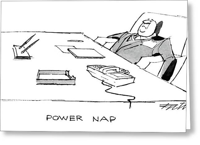 Power Nap Greeting Card by Mischa Richter