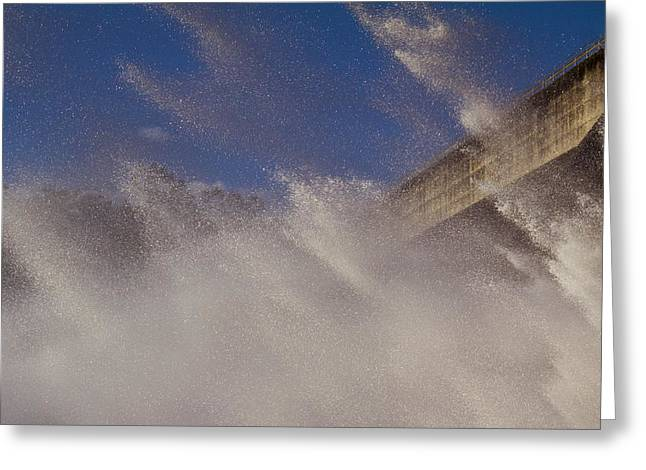 Power Of Water Greeting Card by Debbie Cundy