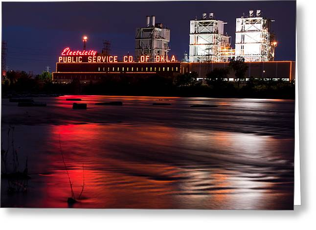 Power On The River - Tulsa Oklahoma Greeting Card