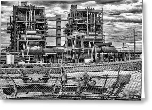 Power Plant In Long Beach Greeting Card