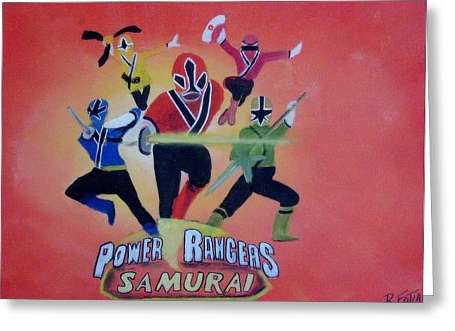 Power Rangers Samurai Greeting Card by Rich Fotia