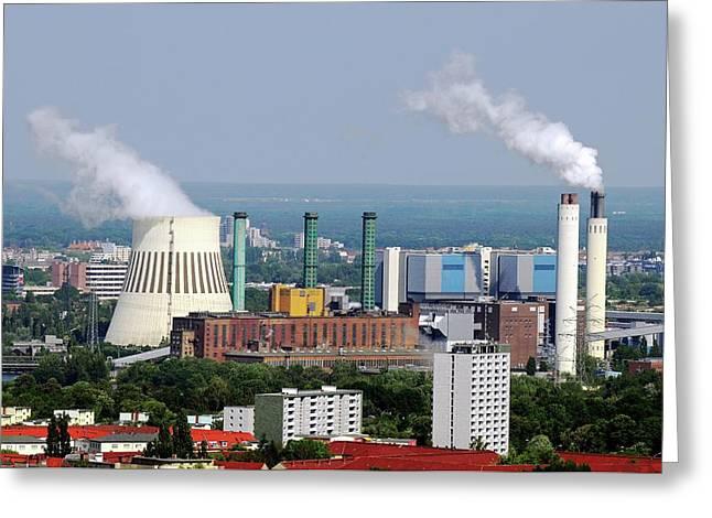 Power Station Greeting Card by Bildagentur-online/mcphoto-schulz