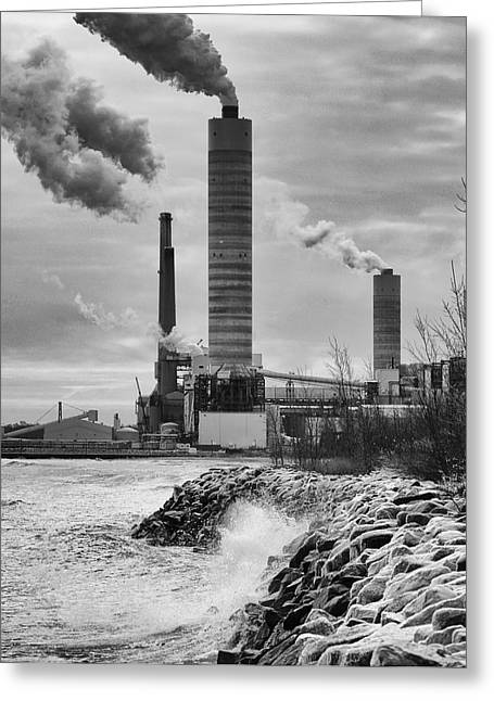 Greeting Card featuring the photograph Power Station by Ricky L Jones