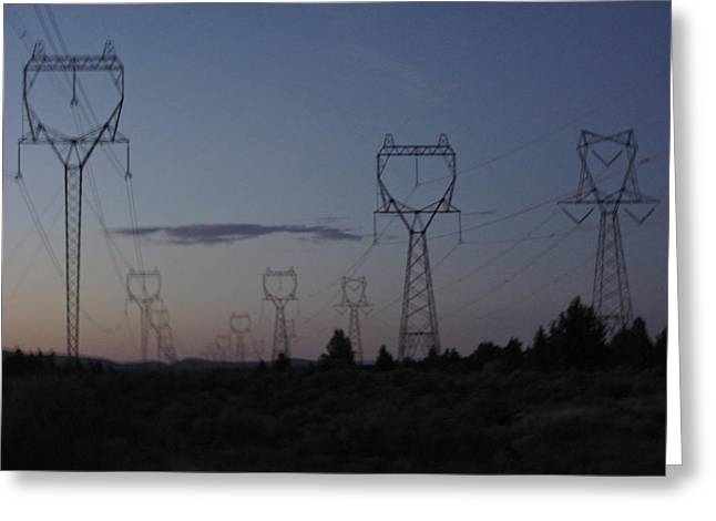 Power Towers Greeting Card