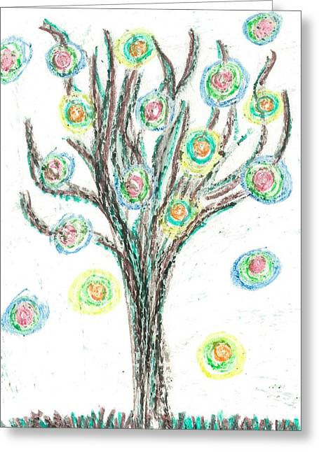 Power Tree Greeting Card