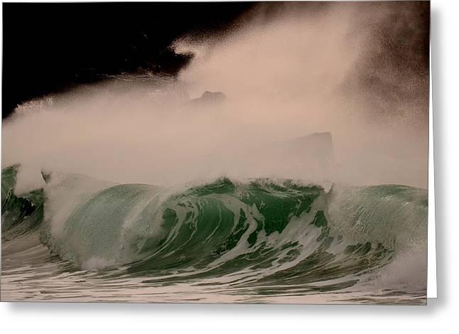 Power Wave Greeting Card by Barbara Walsh