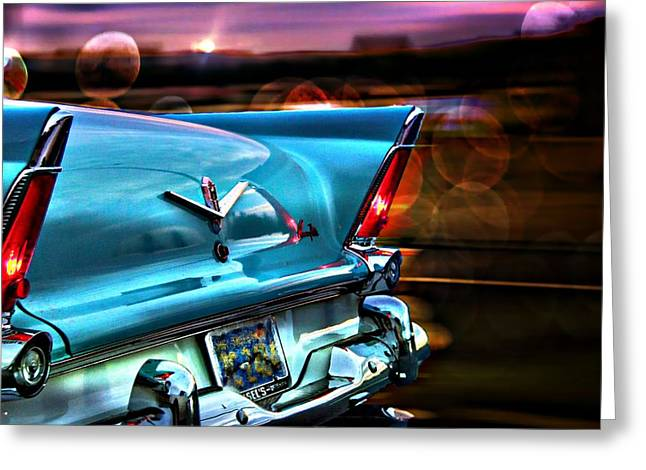 Vehicles Greeting Card featuring the photograph Powerflite by Aaron Berg