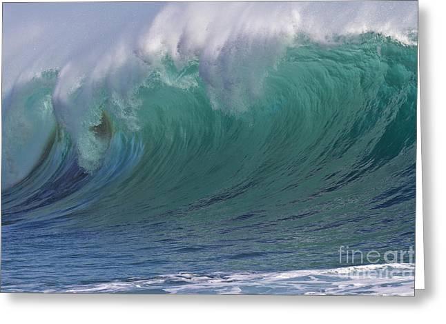 Powerful Breaking Coastal Waves Greeting Card by Heiko Koehrer-Wagner