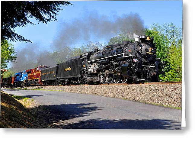 Powerful Nickel Plate Berkshire Greeting Card