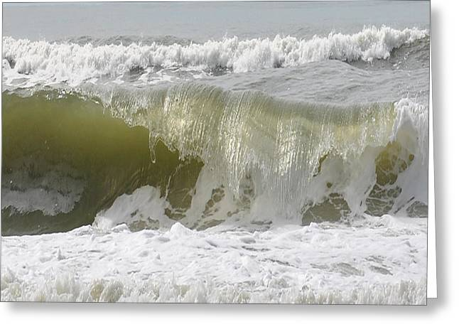 Powerful Wave Greeting Card by Michele Kaiser