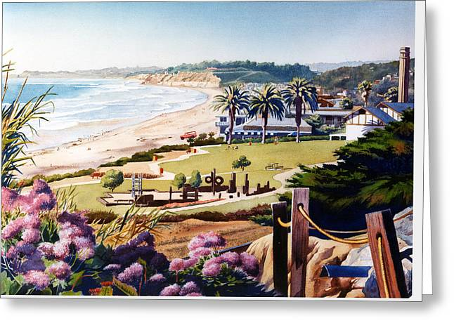 Powerhouse Beach Del Mar Lilac Greeting Card