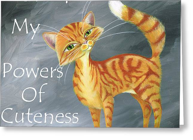 Powers Of Cuteness Greeting Card by Heather Bradley