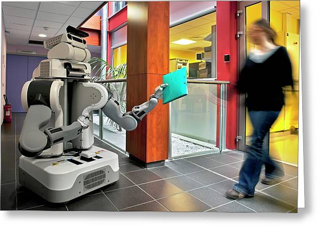 Pr2 Robot Research Greeting Card by Patrick Landmann