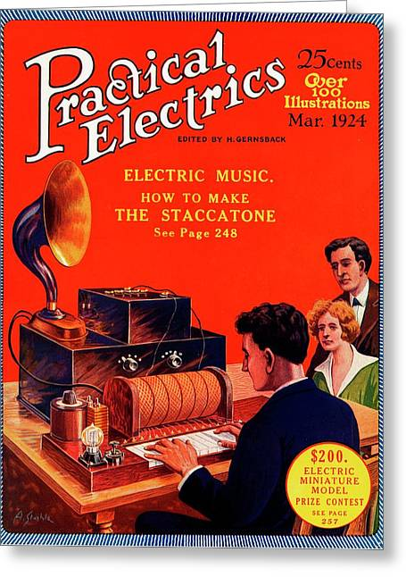 Practical Electrics Front Cover Greeting Card
