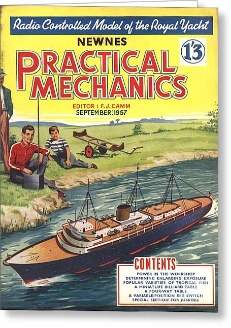 Practical Mechanics 1950s Uk Diy Boats Greeting Card by The Advertising Archives