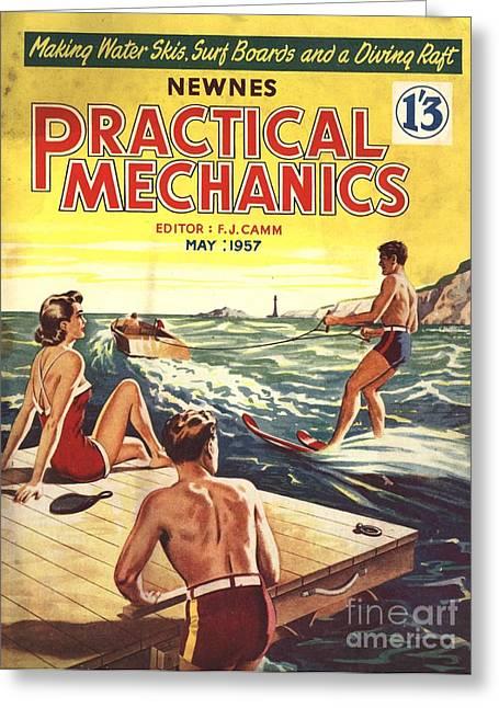 Practical Mechanics 1957 1950s Uk Water Greeting Card