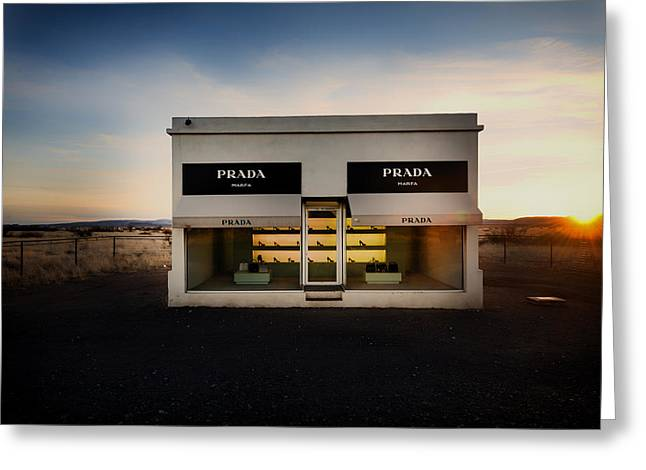 Prada Marfa Greeting Card