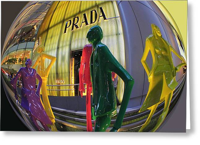 Prada Greeting Card