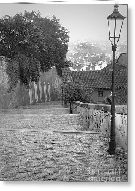 Greeting Card featuring the photograph Prague by Art Photography