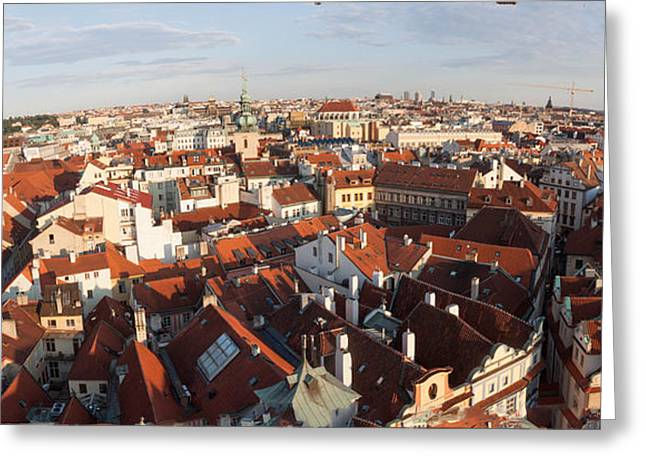 Prague At Dusk Greeting Card by Thomas Marchessault