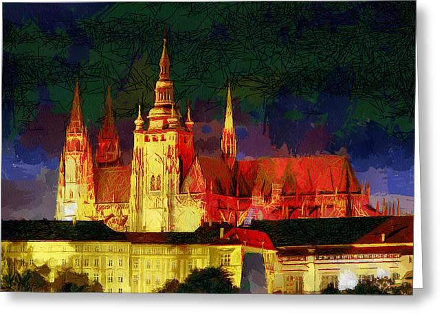 Prague Castle Greeting Card by Georgi Dimitrov