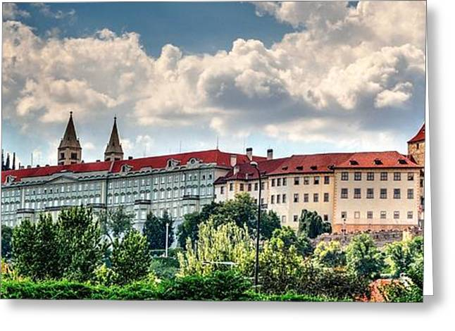 Greeting Card featuring the photograph Prague Castle by Joe  Ng