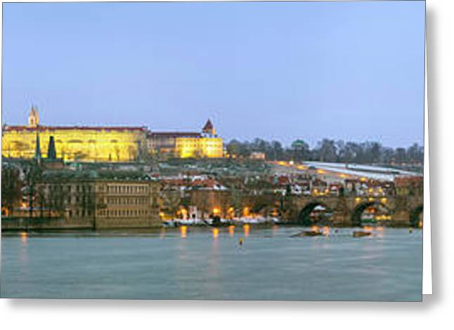 Prague Castle Prask Hrad And Charles Greeting Card