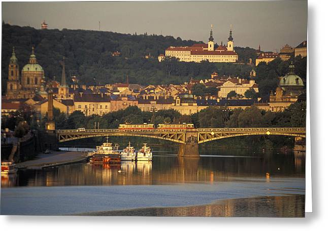 Prague Greeting Card by Chris Coe