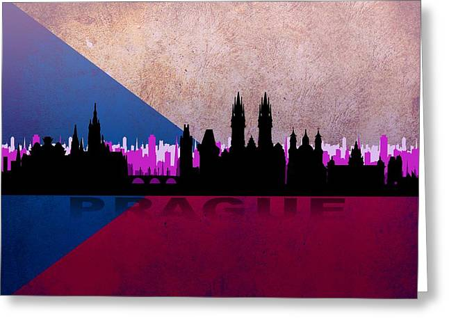 Prague City Greeting Card
