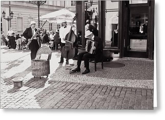 Prague Funfair Orchestra Greeting Card