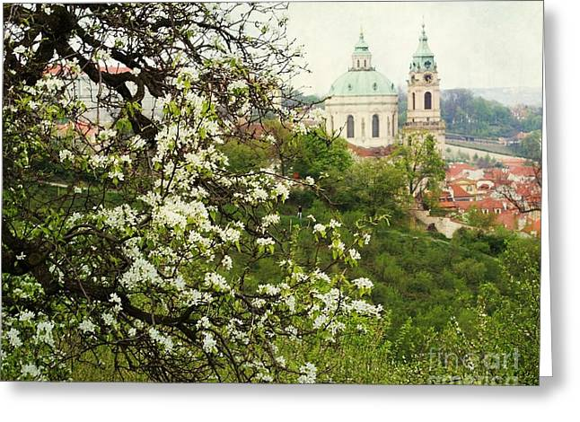 Prague In Bloom II Greeting Card