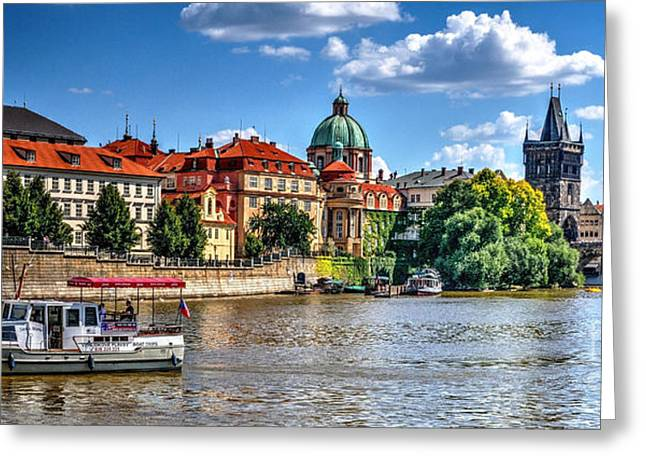 Greeting Card featuring the photograph Prague by Joe  Ng