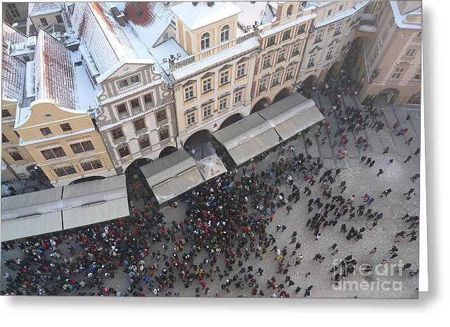 Greeting Card featuring the photograph Prague Market by Deborah Smolinske