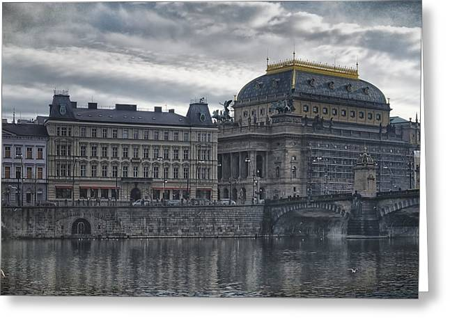 Prague National Theatre Greeting Card