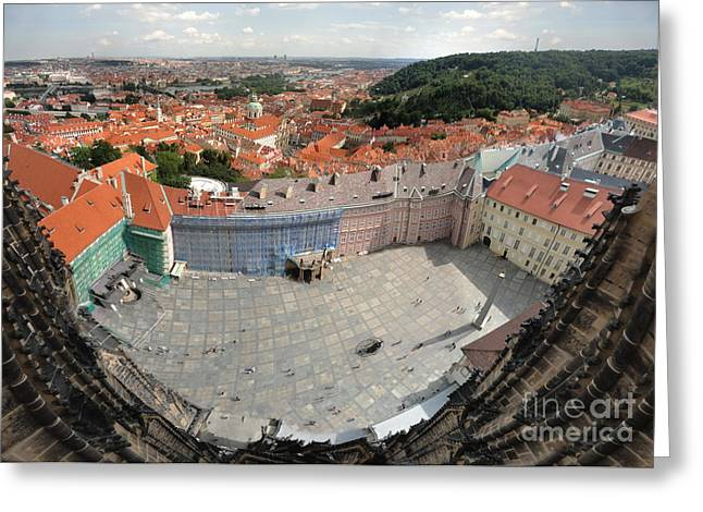 Prague - View From Castle Tower - 08 Greeting Card by Gregory Dyer