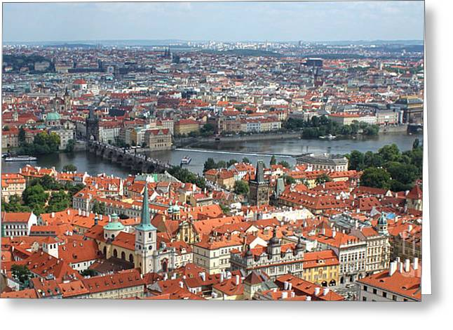 Prague - View From Castle Tower - 09 Greeting Card by Gregory Dyer