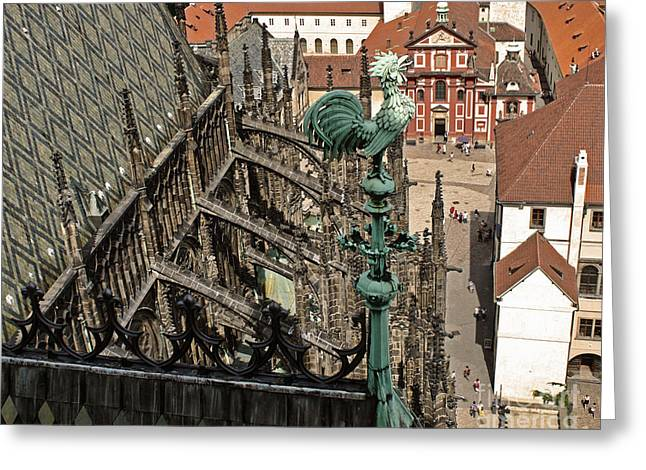 Prague - View From Castle Tower - 11 Greeting Card by Gregory Dyer