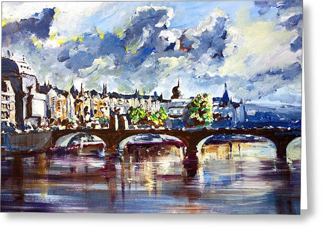 Prague In Springtime Greeting Card by Zlatko Music