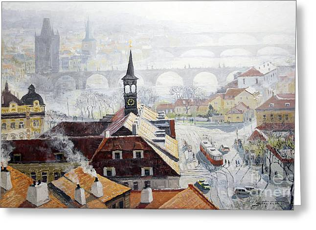 Praha Early Spring  Greeting Card by Yuriy Shevchuk
