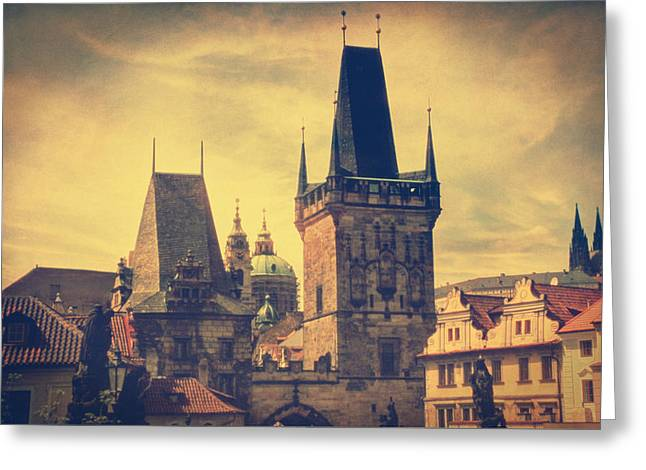 Praha Greeting Card by Taylan Apukovska