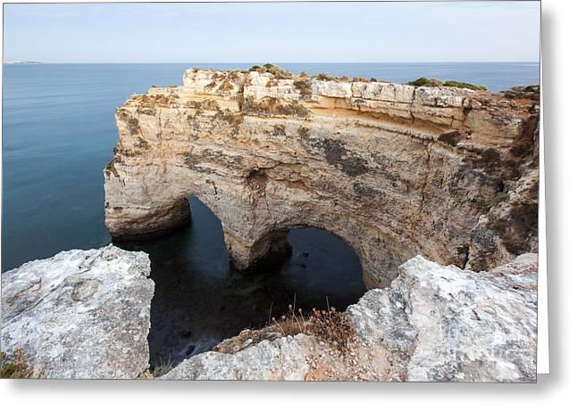 Praia Da Marinha With Love Greeting Card by Andre Goncalves