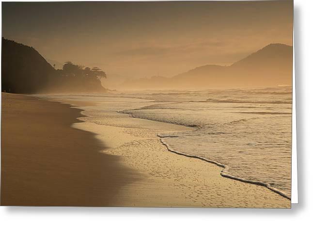 Praia Das Toninhas In Ubatuba Greeting Card