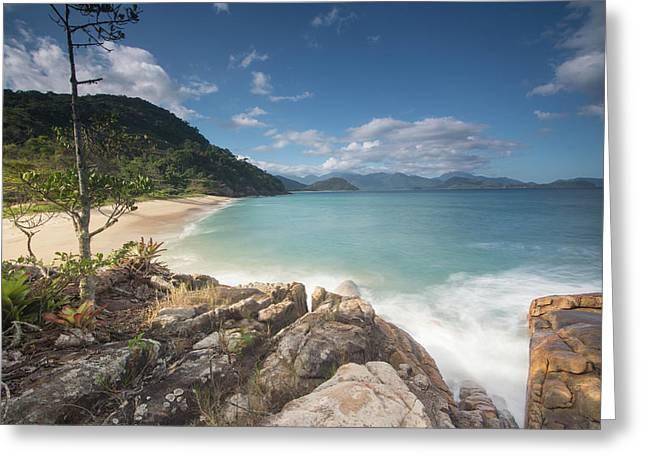 Praia Do Meio Beach In The Afternoon Greeting Card
