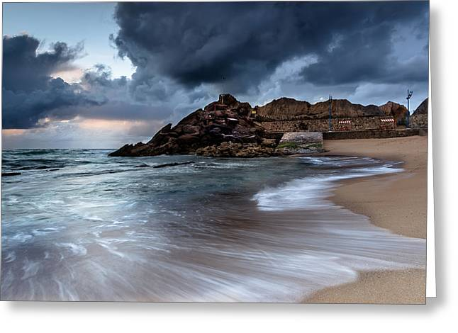 Greeting Card featuring the photograph Praia Formosa by Edgar Laureano