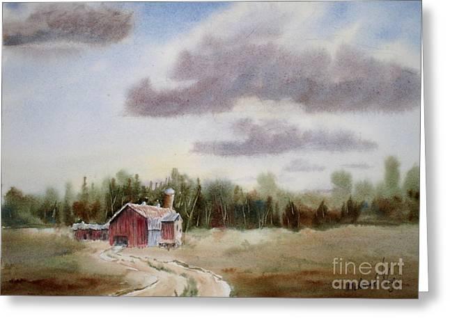 Prairie Barn 2 Greeting Card by Mohamed Hirji