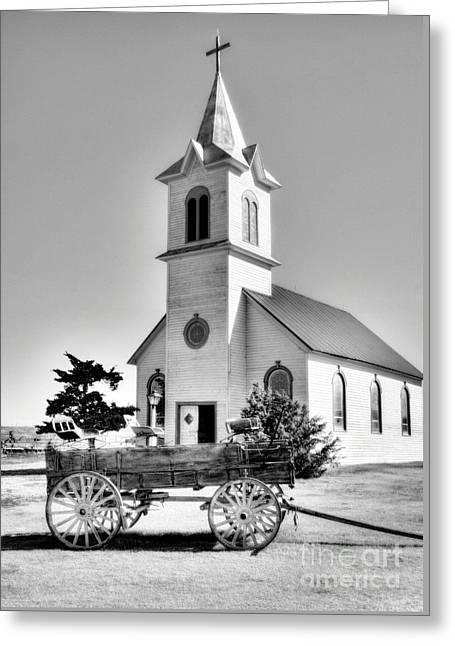 Prairie Chapel 2 Greeting Card by Mel Steinhauer